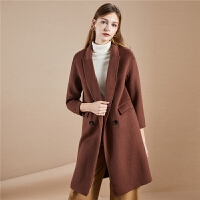 【3折到手价:399】羊毛毛呢外套女冬季新款宽松外衣双面呢时尚中长款呢子大衣