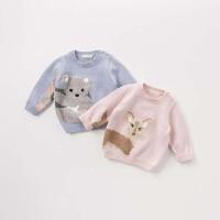 [2件3折价:78.9]戴维贝拉秋冬装儿童针织衫 宝宝卡通毛衣DB8256