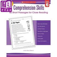 【中商原版】学乐阅读理解技巧6年级 英文原版 Comprehension Skills G6 练习册 辅导书