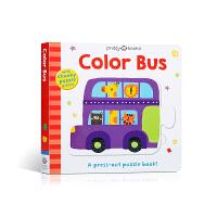 【全店300减100】Puzzle and Play 英文原版进口 拼图拼拼书 Roger Priddy 颜色巴士 Co