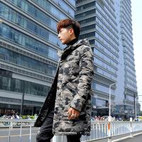 棉袄男士外套冬季2018新款韩版潮迷彩冬装中长款羽绒男款棉衣