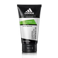 阿迪达斯(adidas) 男士洗面奶深层 清洁控油保湿洁面乳 男士劲透控油炭爽洁面膏100g