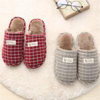 棉拖鞋女冬季秋天情侣包跟儿童保暖家居家用室内毛毛绒可爱托鞋男