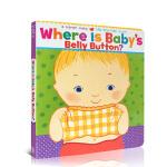 英文原版绘本童书 Where Is Baby's Belly ButtonKaren Katz 凯伦卡茨 宝宝的肚脐眼