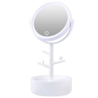 镜子女led灯化妆镜带灯便携公主宿舍镜充电台式补光化妆灯梳妆镜