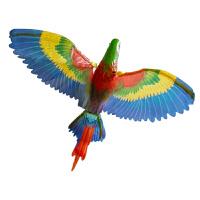 会飞的小鸟玩具 跑江湖电动鹦鹉会飞发光的发声飞鸟吊线鹦鹉音乐提线小鸟玩具 深