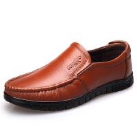 DAZED CONFUSED皮鞋男夏季男鞋中老年人休闲父老人鞋子中年防滑软底爸爸鞋