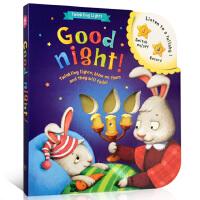 英文原版进口童书 Good night晚安音乐故事书 儿童发声书 可录音宝宝启蒙书音乐有声书早教益智书籍英文纸板绘本0