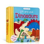 顺丰发货 英文原版Lift and Look Dinosaurs 恐龙认知科普绘本 儿童启蒙纸板翻翻书 亲子阅读 Wh