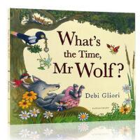 英文原版 What's the Time, Mr. Wolf? 老狼老狼几点了 张湘君推荐绘本 名家Debi Glio