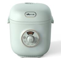 小熊(Bear)电饭煲家用迷你1.2L小型电饭锅蒸饭器智能全自动可预约热饭煮粥锅1-2人绿色DFB-B12R1