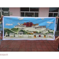 十字绣成品西藏布达拉宫2米新款客厅大幅风景画全绣装饰画