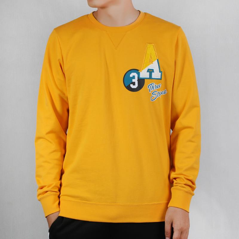 Adidas阿迪达斯圆领卫衣男装秋季运动服宽松套头衫EI4761