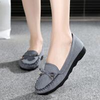 单鞋休闲工作鞋孕妇妈妈鞋豆豆鞋子女春季布鞋女鞋平跟平底