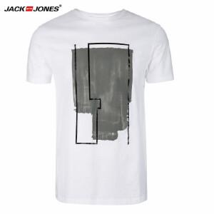 杰克琼斯/JackJones时尚百搭新款T恤 简约印花--12-1-1-216301541023