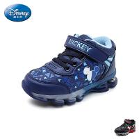 【119元任选2双】迪士尼Disney童鞋18新款儿童运动鞋米奇男童学生鞋网布时尚缓震休闲鞋 (5-10岁可选) S7