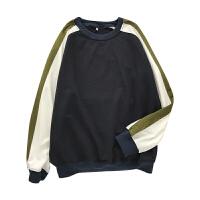 韩版圆领卫衣男秋季新款宽松男士外套学生套头长袖T恤潮男装