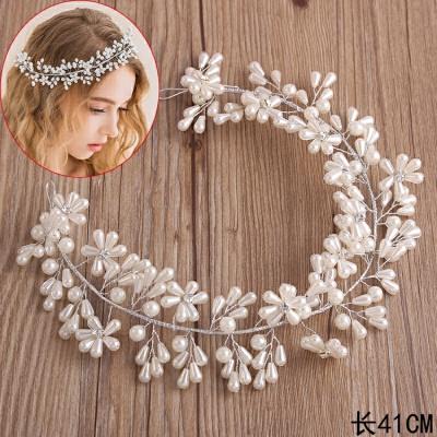 艾米新娘韩式白色百搭手工串珠软链盘发头饰婚纱礼服搭配饰品 发货周期:一般在付款后2-90天左右发货,具体发货时间请以与客服协商的时间为准