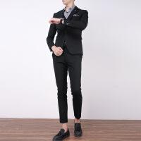 西装男套装修身韩版英伦风男士帅气新郎西服外套休闲职业商务正装