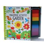 原版英文 Fingerprint Activities: Garden 指画书:花园 图书英语绘本含彩色印泥 创意艺术