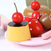水果切切看女孩玩具厨房木制儿童欢乐过家家仿真厨具台