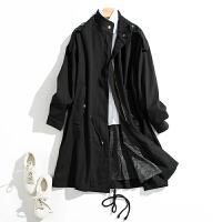 女士中长款休闲宽松黑色显瘦长袖风衣外套N1/0/07