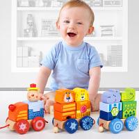小火车儿童积木玩具1-2-3-4-6周岁宝宝智力拼装大颗粒男孩女孩