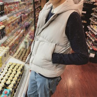 ZAH正品棉衣马甲男士外套2017新款冬季加厚连帽修身韩版潮学生青少年保暖背心外套男