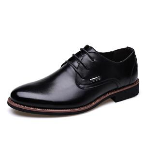 【秋季新品】2017新款商务休闲男士皮鞋英伦透气大码正装婚鞋男8096JLF支持EdEock