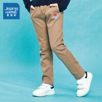 [5折秒杀价:64.9元,仅限12.4-5]真维斯男童 冬装新款 简约厚休闲裤
