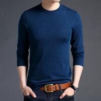 男装男士羊毛衫针织衫纯色圆领上衣