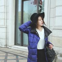 两面穿羽绒服女中长款2018双面女士韩版白鸭绒冬季轻便薄亮面