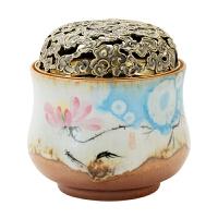 陶瓷莲花香炉家用香薰炉盘香炉品香杯