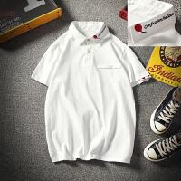 夏季刺绣男短袖T恤棉衬衫领POLO衫社会小伙半袖男精神