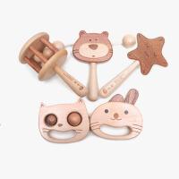 【手摇铃礼盒】木制拨浪鼓宝宝玩具礼品套装 创木工房 刻字