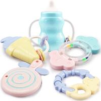 玩具手摇铃宝宝咬软胶可水煮牙胶3-6-12个月0-1岁