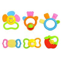 婴儿玩具0-1岁新生儿牙胶儿童早教摇铃组合1礼盒 919+939A