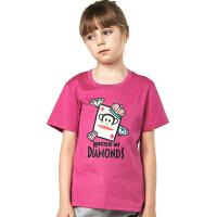 paul frank/大嘴猴亲子装百搭女童式运动短袖T恤