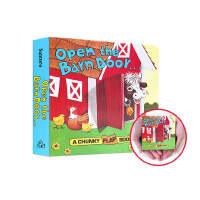 【中商原版】手掌书:打开谷仓的门 Open The Barn Door Find a Cow 纸板书 翻翻书 动物农场