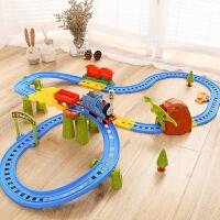 电动小火车套装轨道车汽车儿童玩具3-4-6岁男孩