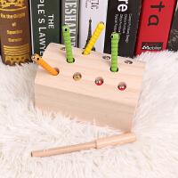 磁性捉虫游戏儿童积木玩具1-2-3-6周岁婴幼儿宝宝智力木质