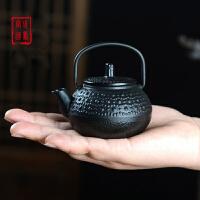 铸铁壶迷你茶壶掌心壶茶宠摆件礼品定制铸铁泡茶烧水壶煮茶器电陶炉茶炉功夫茶具套装煮茶老铁壶