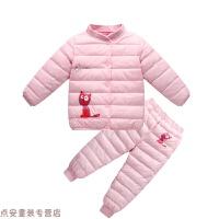 冬季儿童棉衣男童女童宝宝羽绒内胆套装小童婴儿冬加厚两件套秋冬新款