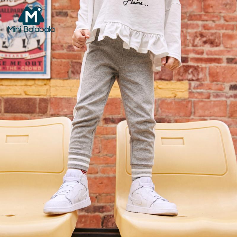 【满200减130】迷你巴拉巴拉女童外穿打底裤宝宝长裤2019春新款修身高弹儿童裤子