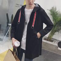 2018春秋新款bf外套韩版潮流中长款风衣男士潮牌个性嘻哈帅气学生