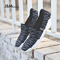 jm快乐玛丽2018夏季潮增高时尚休闲运动鞋一脚蹬男鞋懒人鞋78160M