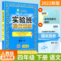 2019春 春雨教育 实验班提优训练 四年级下册/4年级 语文 人教版