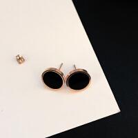 韩国钛钢耳钉气质个性简约百搭长款吊坠 ins少女短发耳环耳饰品女