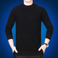 杰克官方琼斯旗舰店对比GX G官网针织衫男毛衣保暖打低衫男圆领中年加厚圆领毛衣爸爸装大码