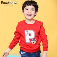 【2件2.5折 到手价:125】Pawinpaw卡通小熊童装男童休闲上衣中小童套头衫儿童卫衣